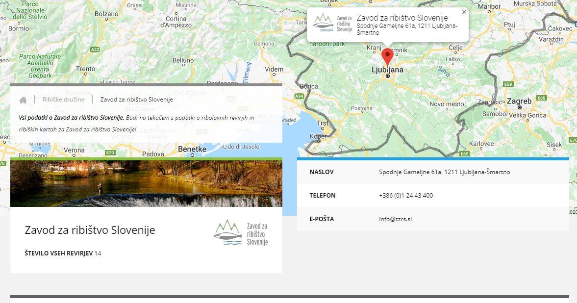 Spletni nakup ribolovnih dovolilnic Zavod za ribištvo Slovenije